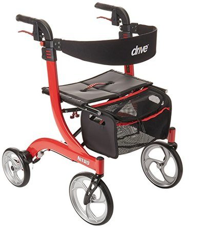 Drive Medical Nitro Euro Style Red Rollator Walker