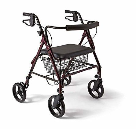 Heavy Duty Bariatric Aluminum Mobility Rollator Walker