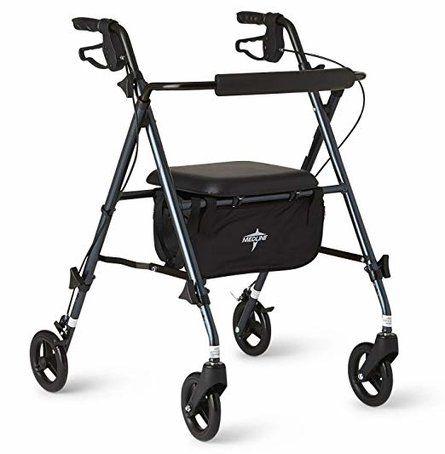Lightweight Folding Aluminum Mobility Rollator Walker