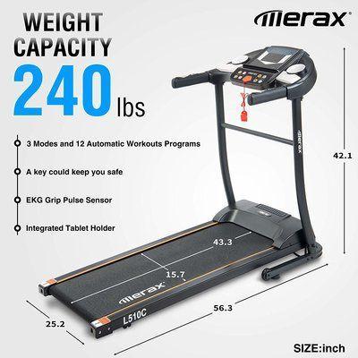 Merax Folding Electric Treadmill