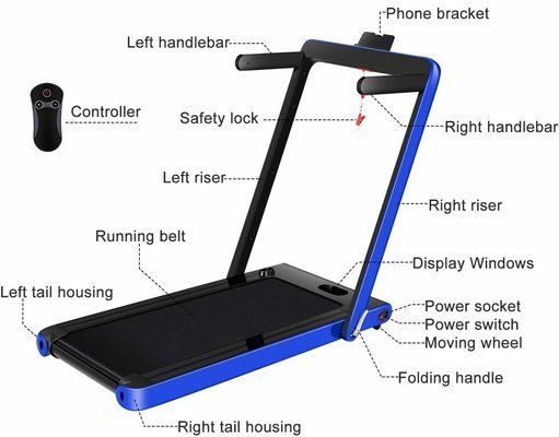 OppsDecor Under Desk Treadmill