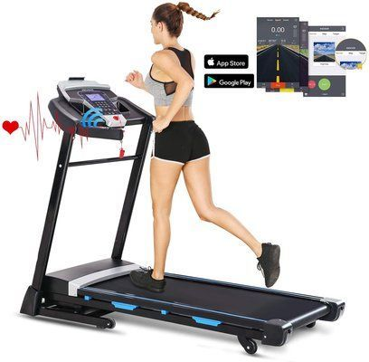 ANCHEER Folding Treadmill 3.25HP Automatic Incline Treadmill